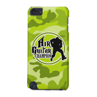 Funny Air Guitar bright green camo camouflage iPod Touch (5th Generation) Cover