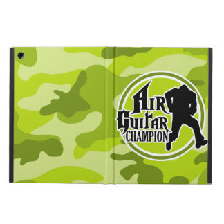 Funny Air Guitar bright green camo camouflage Cover For iPad Air