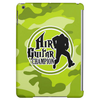 Funny Air Guitar bright green camo camouflage Case For iPad Air