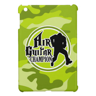 Funny Air Guitar bright green camo camouflage Cover For The iPad Mini