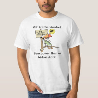 Funny Air Traffic Control Airbus Cartoon T-Shirt