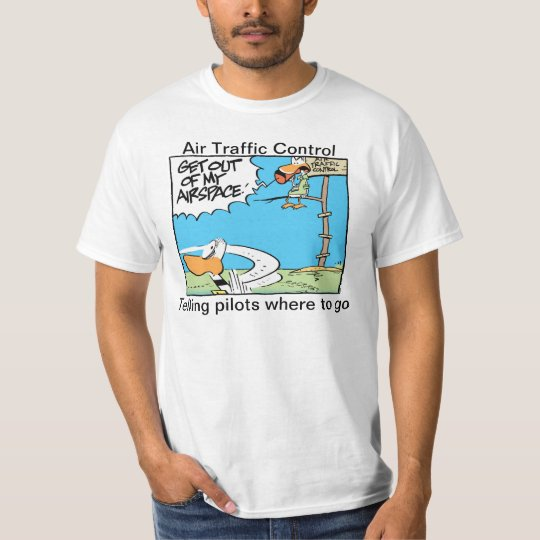 Funny Air Traffic Control Airspace Cartoon Shirt