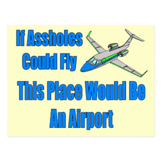 Funny Airport T-shirts Gifts Postcard
