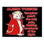 Funny Albino Possum Vampire Animal