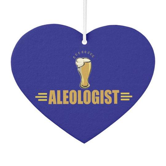 Funny Aleologist Beer Drinker's Car Air Freshener