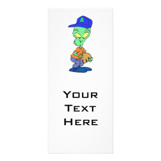 funny alien baseball player pitcher personalized rack card