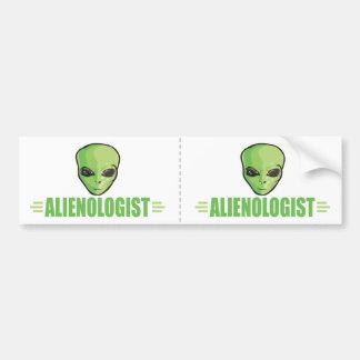 Funny Alien Lover Bumper Sticker