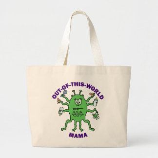 Funny Alien Mama Mother's Day Jumbo Tote Bag