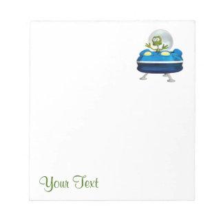 Funny Alien Notepad
