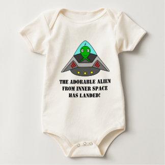 Funny Alien Shirt for Newborns