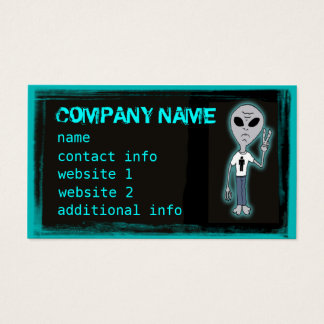 Funny Alien T-Shirt  Customizable Business Cards