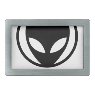 Funny Alien We Come In Peace Rectangular Belt Buckle