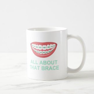 Funny All About the Brace Spoof Basic White Mug