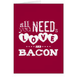 Funny All You Need is Love and Bacon