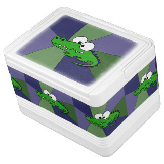 Funny Alligator Art Igloo Cool Box
