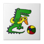 Funny Alligator at the beach Cartoon