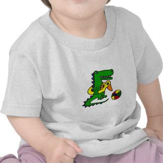 Funny Alligator at the beach Cartoon Tshirt