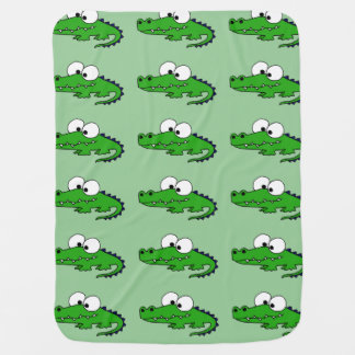 Funny Alligator Baby Blanket