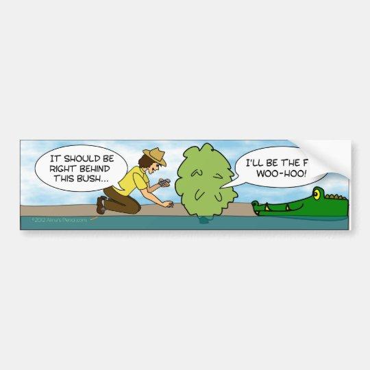 Funny Alligator Cache Geocaching Bumper Sticker