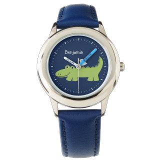 Funny Alligator Personalized Wrist Watch