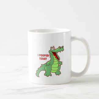 Funny Alligator Pooped Today Coffee Mug