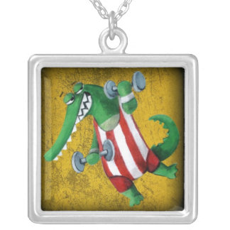 Funny Alligator the Athlete Necklaces