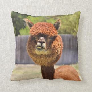 Funny Alpaca Throw Pillow