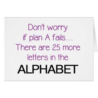 Funny Alphabet Quote Card