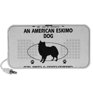 funny AMERICAN ESKIMO DOG design Mp3 Speaker