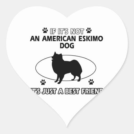 funny AMERICAN ESKIMO DOG design Sticker
