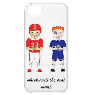 Funny American Football versus Rugby Cartoon iPhone 5C Case