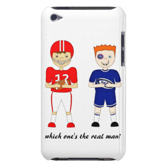 Funny American Football versus Rugby Cartoon iPod Touch Case-Mate Case
