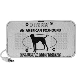 funny AMERICAN FOXHOUND designs Travelling Speakers
