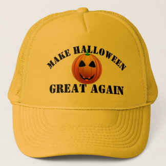 Funny American pumpkin Halloween Trucker Hat