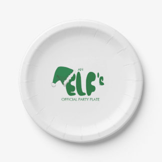 Funny. An Elf's Official Party Paper Plate