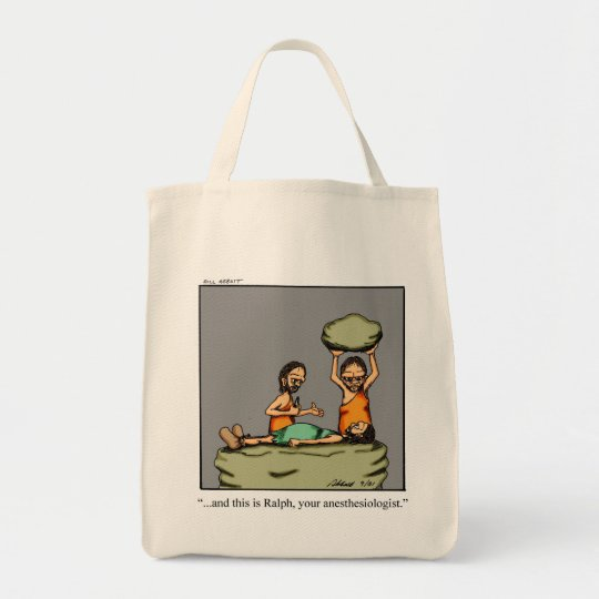 Funny Anaesthesiologist Caveman Tote Bag Gift