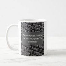 Anagrams Coffee & Travel Mugs   Zazzle UK