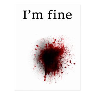 funny and brain teasing design I'm fine Postcard