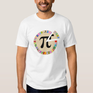 Funny and Colorful Piece of Pi Calculated Tshirt