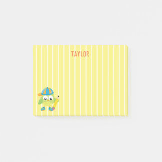 Funny and Cool Green Owl School Post-it Notes
