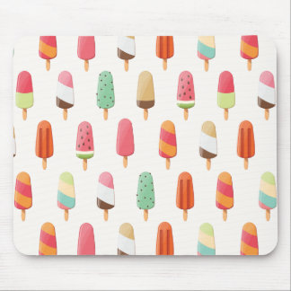 Funny and cute colored ice creams pattern mouse pad