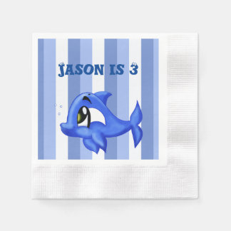 Funny and cute dolphin cartoon illustration disposable serviette
