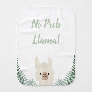 Funny and Cute Llama Baby Burp Cloth