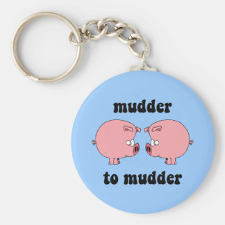Funny and cute pigs key ring