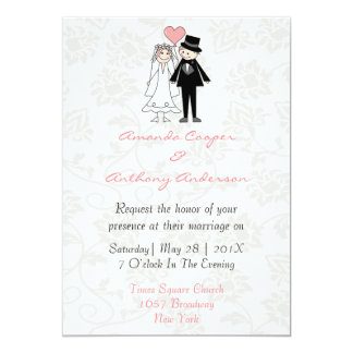 funny and elegant wedding and reception card