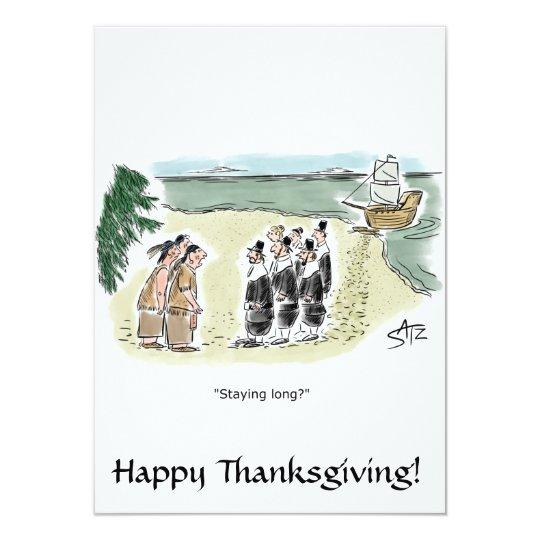 Funny and fun Thanksgiving invitation