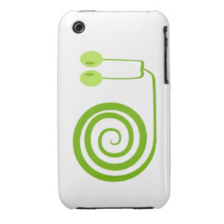 Funny and it cheers green snail with spiral Case-Mate iPhone 3 case
