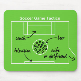Funny and original soccer game tactics, mouse pad