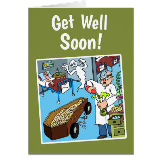 Funny and Quirky Get Well Soon Card