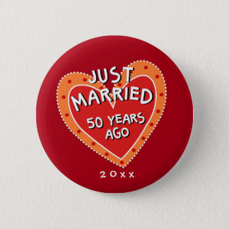 Funny and Romantic 50th Anniversary 6 Cm Round Badge